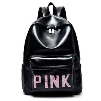 PEAPON PINK Victoria's Secret Fashion Sport School Bag Satchel Travel Bag Backpack