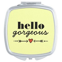 Hello Gorgeous - Yellow Flattering to Every Face Travel Mirrors