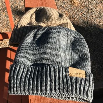 lined winter beanie, men and women beanie cap by colorado chick