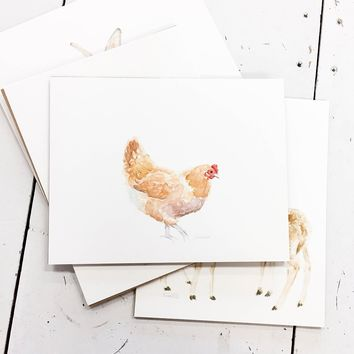 Farmhouse Watercolor Prints