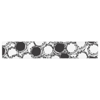 "Nandita Singh ""Beaded Bangles"" Black White Table Runner"