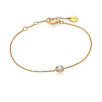 Marli - Fifi Diamond & 18K Yellow Gold Femme Bracelet - Saks Fifth Avenue Mobile