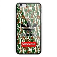 Best Adidas Bape Camo X Supreme iPhone 7 7+ 8+ X Hard Plastic Case