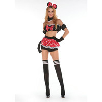 New Arrival Super Cute Darling Mouse Halloween Costume Adult Animal Sexy Fancy Dress for Women