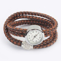 Vintage Braided PU Watch