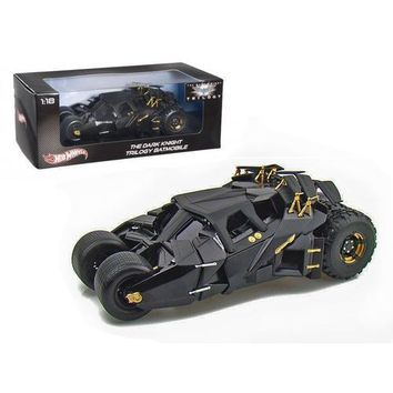 """The Dark Knight"" Trilogy Movie Batmobile Tumbler 1/18 Diecast Model Car by Hotwheels"