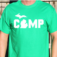 Camp Michigan Shirt, Camping Michigan Shirt, Camping Shirt