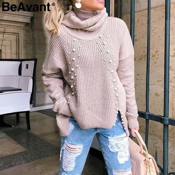Turtleneck plus size loose knitted, Winter.