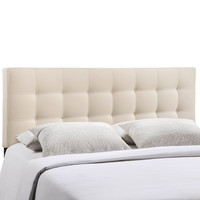 Lily Full Fabric Headboard in Ivory