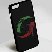 Green Arrow and The Flash Superhero DC Comics iPhone 4, 4s, 5, 5s, 5c, 6, 6plus, 7 Case