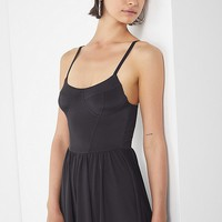 UO Brianna Slinky Romper | Urban Outfitters