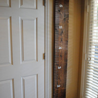 Wooden Ruler Growth Chart. Handmade. Wall Decor. Growth Chart for Kids.  Back to School.