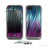 The Pink & Blue Vector Swirly HD Strands Skin for the Apple iPhone 5c LifeProof Case