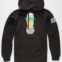 Neff X The Simpsons Hst Mens Hoodie Black  In Sizes