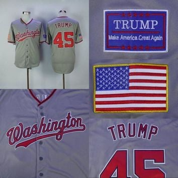 Donald Trump 45th President Make America Great Again Jersey Men's 100% Stitched Embroidery Logos Baseball Jerseys