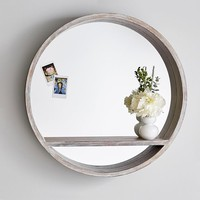 Wood Mirror Shelf