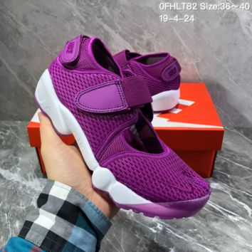 HCXX N1502 Nike mesh gaiters with split toes hipster sports sandals casual gym shoes purple