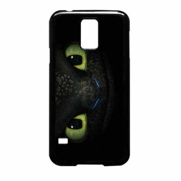 Vc 76 Handmade Finely Printed- Toothless How to Train Your Dragon -Hard Plastic Framed Black Fit for Samsung Galaxy S5