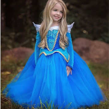 Princess Girl Elsa Dress Sleeping Beauty Halloween Costume For Kids Children Clothing Girl Aurora Fancy Dress Ball Party Wear