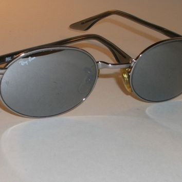 VINTAGE B&L RAY BAN W2391 NUAS G31 FULL MIRROR OVAL CHROME CROSSWALK SUNGLASSES