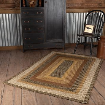 Kettle Grove Jute Country Cottage Farmhouse Rectangle Braided Rugs