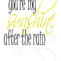 Sunshine Print, Instant Download, DIY Printable, Yellow Decor, Yellow Wall Art, Digital Download