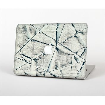 The White Cracked Woven Texture Skin Set for the Apple MacBook Air 11""