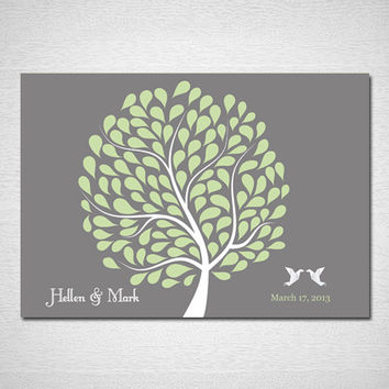 Wedding Guest Book Tree Poster Guest Book Alternative Wedding Guestbook Print Wedding Guest Book Print for 120 Guest Wedding Poster