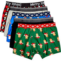 River Island Boys christmas underwear 5 pack