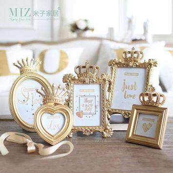 Miz 1 Piece Bachelor Style Gold Luxury Picture Frame for Home Photo Frame Set