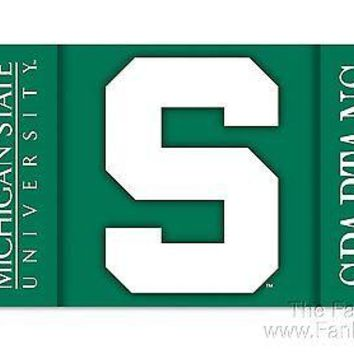 Michigan State Spartans Deluxe 2-SIDED 3x5 Flag w/grommets Banner University of