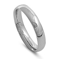 Unisex Stainless Steel Comfort Fit 5mm Wedding Band