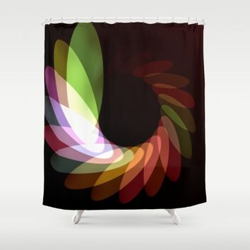 Elliptical Motion Shower Curtain by Eric Rasmussen