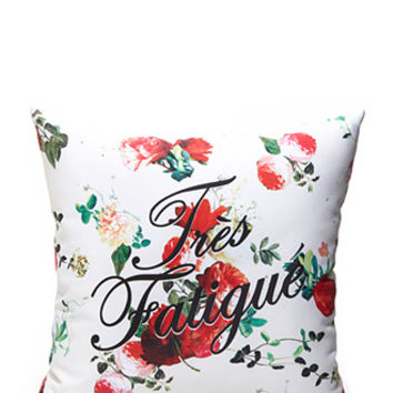 Photo-Floral Throw Pillow