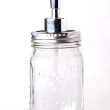 Mason Jar Soap Dispenser - Vintage - Modern Rustic