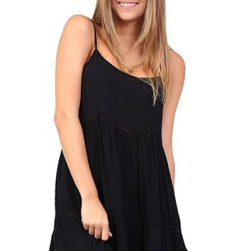 Black Spaghetti Strap Flowy Dress at Blush Boutique Miami - ShopBlush.com