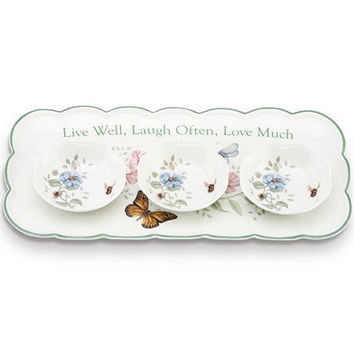 Butterfly Meadow Hors D'oeuvres Tray by Lenox