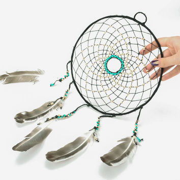 Beautiful handmade interesting original dreamcatcher for home decor and presents