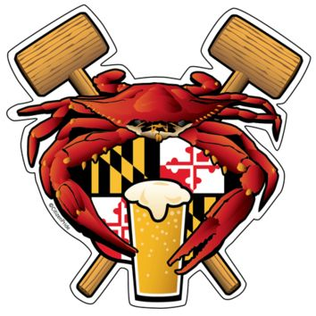 Red Crab Feast & Maryland Crest / Sticker