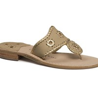 Nantucket Gold Sandal in Baby Camel & Gold by Jack Rogers