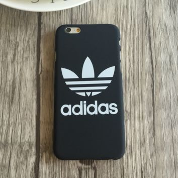 Trendy Adidas Print Black & White Iphone 5 5s SE 6 6s 6plus 6splus 7 7plus Cover Case