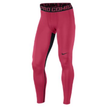 Nike Pro Combat Hyperwarm Dri-FIT Max Compression Men's Tights - Vivid Pink