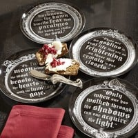 Vampire Salad Plate, Set of 4