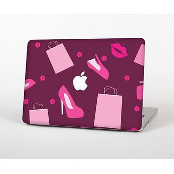 The Pink High Heel Shopping Pattern Skin for the Apple MacBook Air 13""