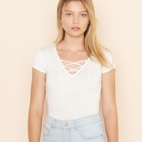 Lace Up Ballerina Top