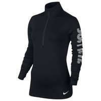 Nike Pro Warm Longsleeve JDI 1/2 Zip - Women's at Eastbay