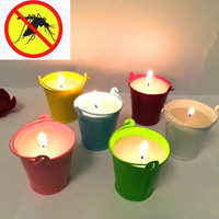 2pcs Citronella pest reject scented candles Mosquito Repellent Tealight decorative candles for outdoor garden home decor