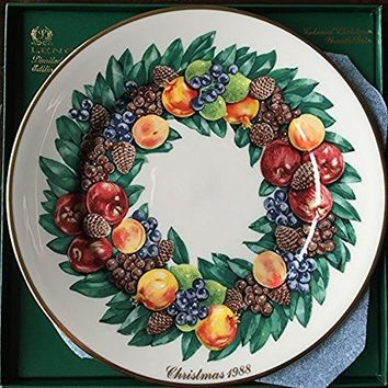 Lenox 1988 Colonial Christmas Wreath Plate, Delaware, The Eighth Colony