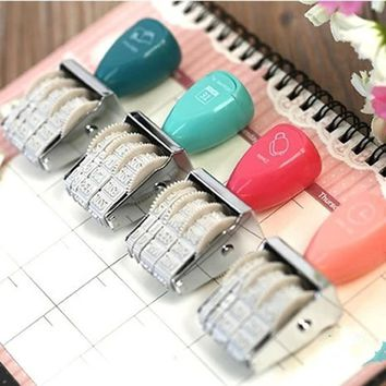 1pc 7.8*3.8*2.5cm Fashion Mood For Love Date Stamp Seal Stamp Photo Album Greeting Card DIY Scrapbooking Stationery Set