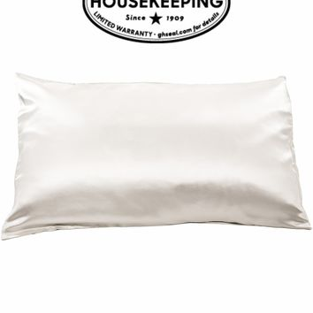 "100% Pure Mulberry Silk Pillowcase - 25 Momme - Good Housekeeping ""Winner"""